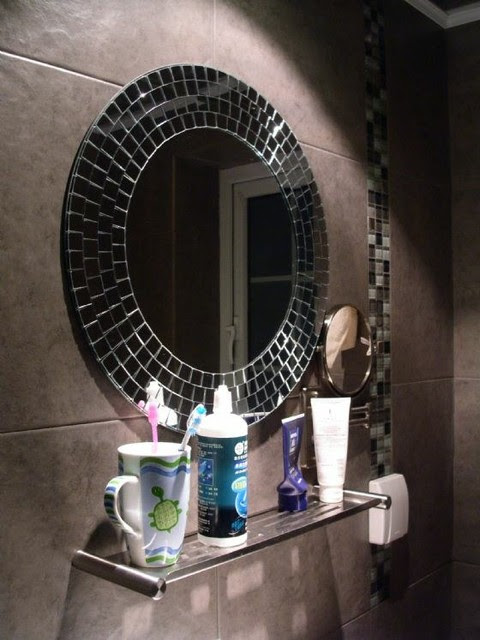 mirror for bathroom. Mosaic bathroom mirror for home decoration  modern Decorative Mirrors For Bathroom Home Design