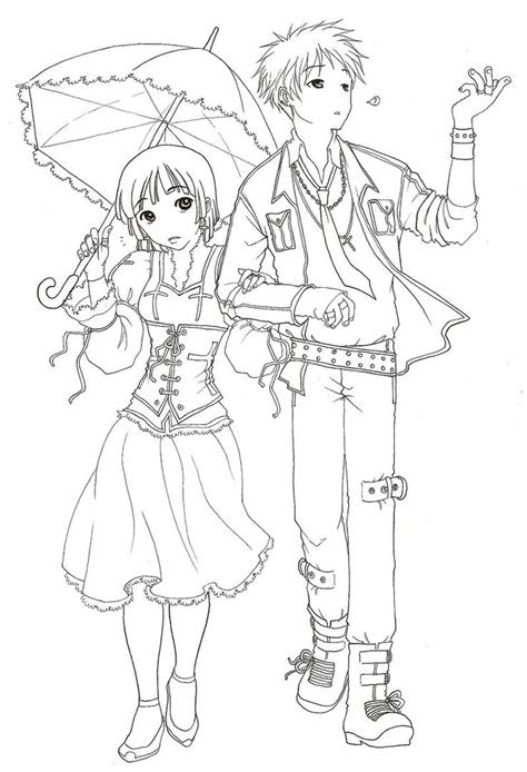 awesome anime couple coloring pages coloring pages