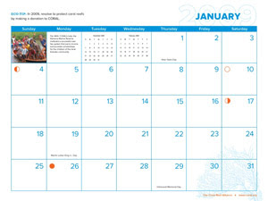 January CORAL Calendar