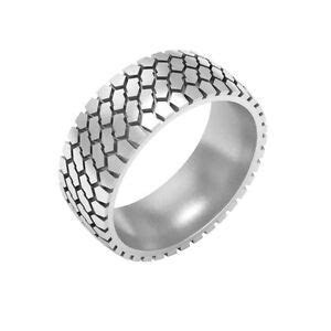 Tire Tread Wedding Band Ring, silver tire ring, mud tire