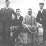 Από τ'αριστερά: Ζαφειρόπουλος, Μπρασάμης, Σωφρονίου, Τζόβενος.