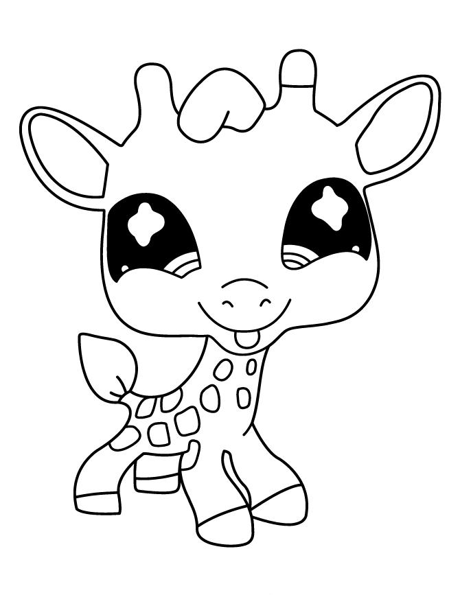 Baby Giraffe Cute Giraffe Coloring Pages