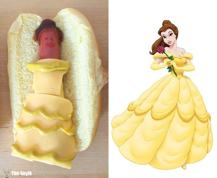 The Geyik Disney Prensesleri Hot Doga Dönüşürse
