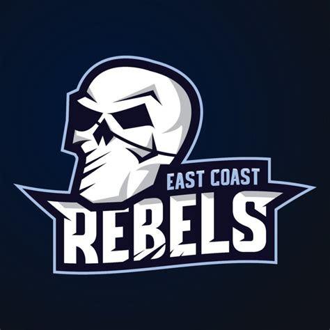 east coast rebels esports style logo design  retrore