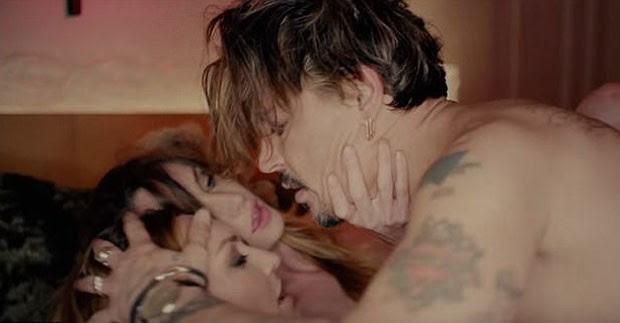 Johnny Depp no clipe de Marilyn Manson (Foto: Reprodução You Tube)