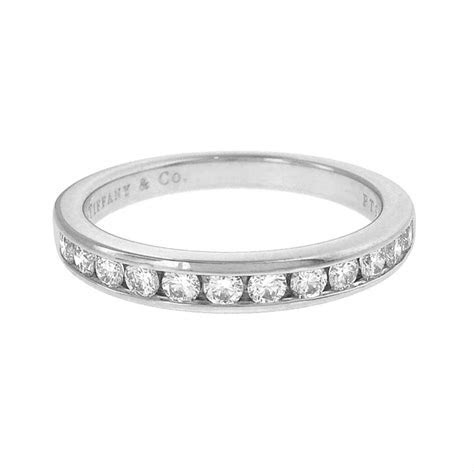 Tiffany & Co. Platinum 3mm Channel set Diamond Wedding