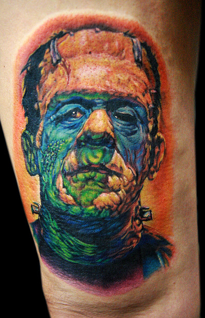 frankenstein tattoo - dragonfly tattoo