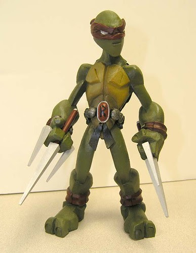 Raphael i//..sculpt by Nate based on concept by Jason Bischoff of Squid Kids ink. (( 2004 ?! ))