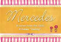 Mercedes Name Meaning - Mercedes name Origin, Name ...