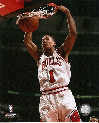 derrick rose dunking on dwight howard. derrick rose dunking on pacers