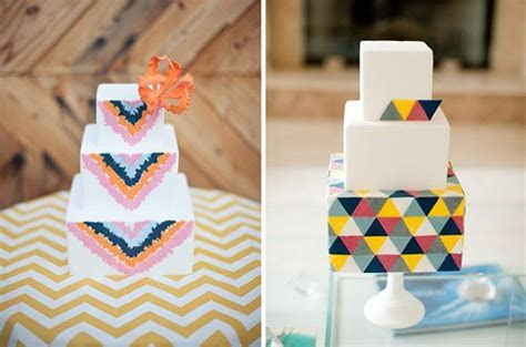 fun geometric shaped cakes   6 13 14   Pinterest   Wedding
