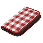 Red and White Gingham Pattern organizer