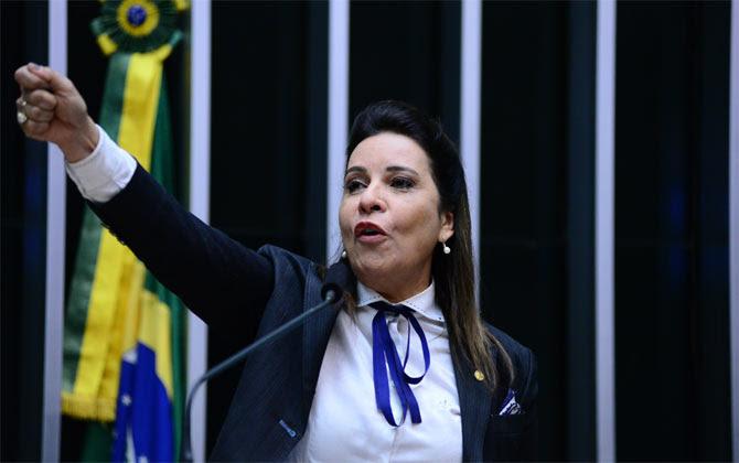 """""""Para dizer que o Brasil tem jeito e o prefeito de Montes Claros mostra isso"""", afirmou a deputada federal Raquel Muniz (PSD-MG). Foto: Nilson Bastian/ Câmara dos Deputados"""