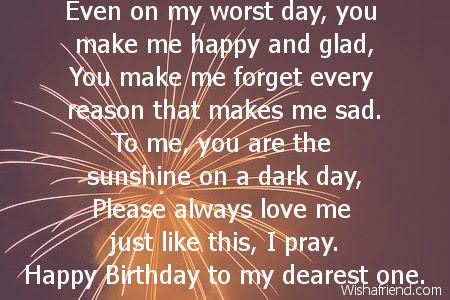 Boyfriend Birthday Poems