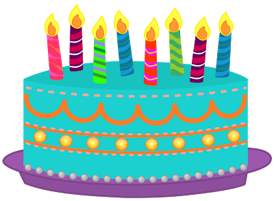 Easy Birthday Clipart Cake