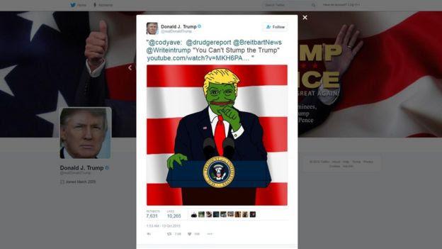 Cuenta de Donald Trump en Twitter.