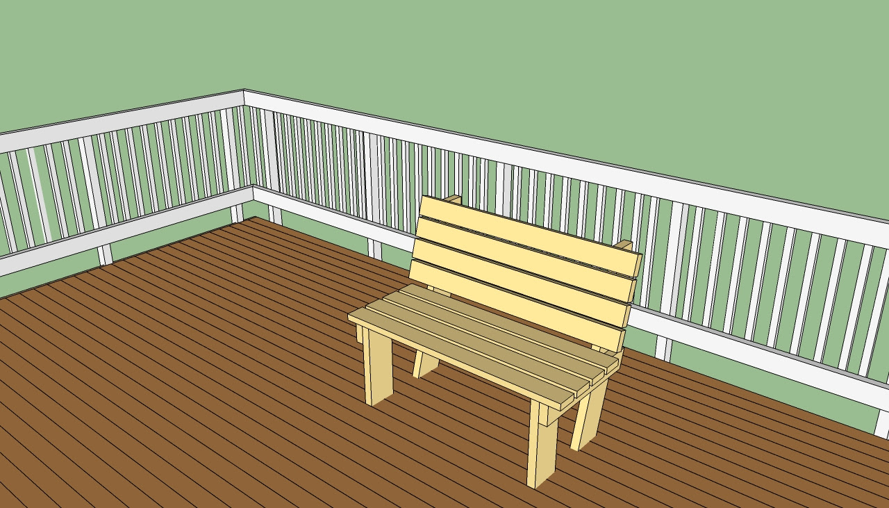 wooden deck bench plans free   Basic Woodworking Projects