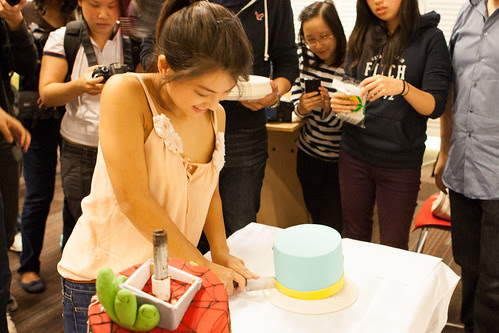 Rhonda Cutting Cake