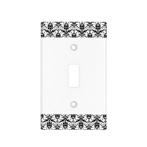 Black and White Damask Matching Kitchen Light Switch Cover  Zazzle