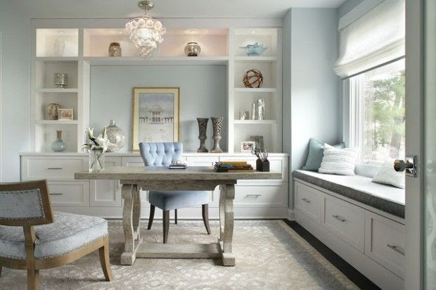 Everything about this home office.   20 Amazing Home Office Design Ideas