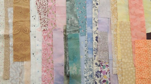 Scraps for a Low Volume Quilt