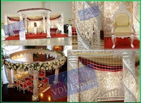 Royal Fiber Crystal Round Wedding Mandap from VDI Exports
