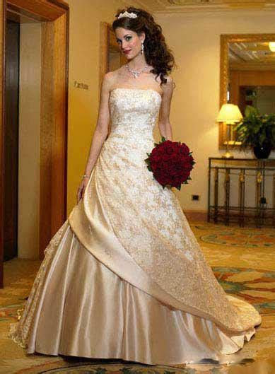 Discount Magnificent Gold Embroidery Satin Aline Strapless