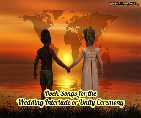 Rock songs for the wedding ceremony interlude or unity