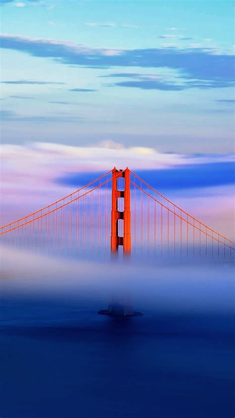 golden gate bridge  clouds iphone wallpaper iphone