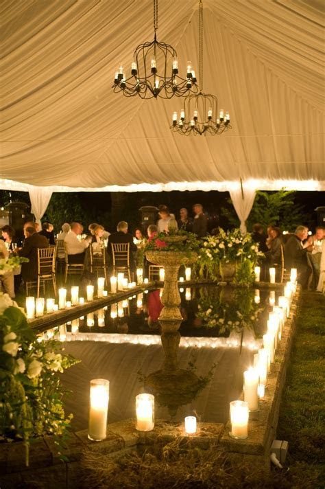 For a summer wedding after sundown at the Villa Marco Polo
