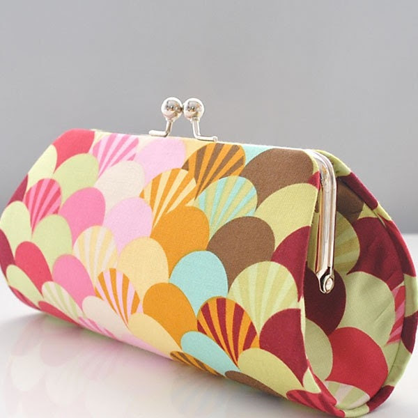 Fans in Sprout..Anita Clutch Purse