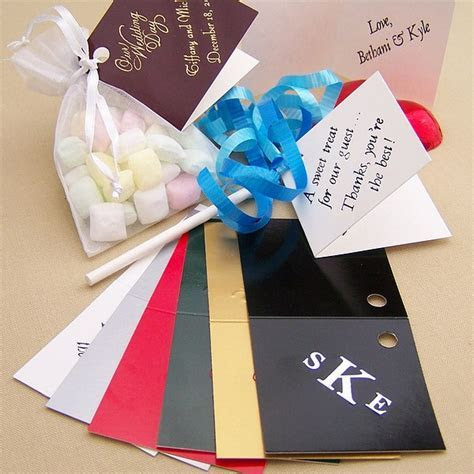 2 x 2 Mini Fold Over Gift Tags w/ Hole Punch