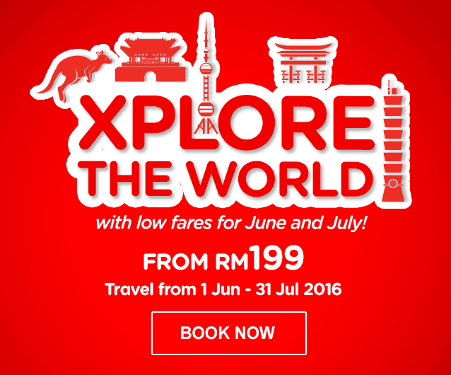 XPLORE THE WORLD with low fares for June and July!