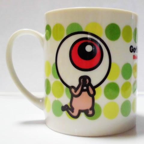 ゲゲゲの鬼太郎目玉おやじが祈りますマグカップグリーン 雑貨