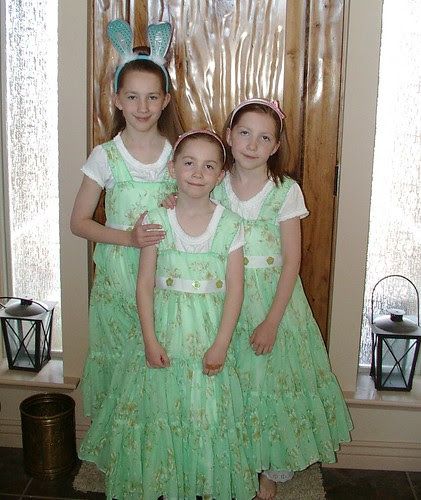 all three in easter dresses