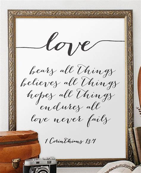 Wedding quote from the bible verse print wall art decor