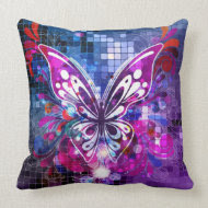 Purple Butterfly throwpillow