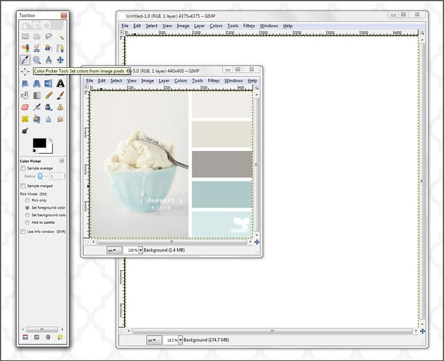 9 select the colour picker tool to use it - click on the icon that looks like an eye dropper