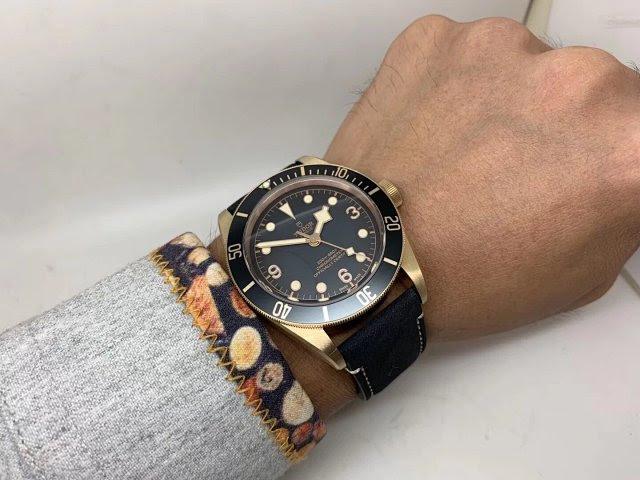 Tudor Black Bay Wrist Shot