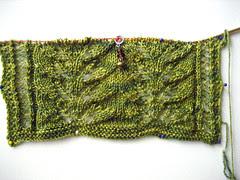 leaf scarf in sea wool