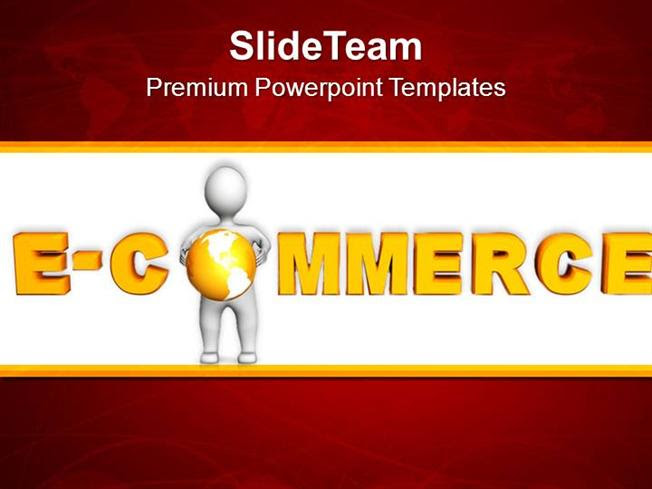 Online Shopping E Commerce Concept Powerpoint Templates Ppt Themes Authorstream