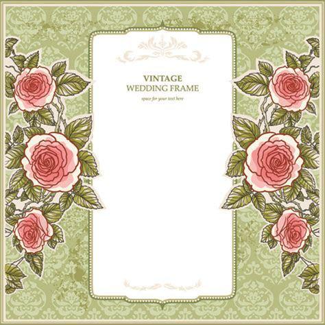 Red flower wedding invitation background design free