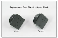 PJ1039 (AS1027A): Replacement Foot Plate for Sigma Flash Units - Nikon & Canon