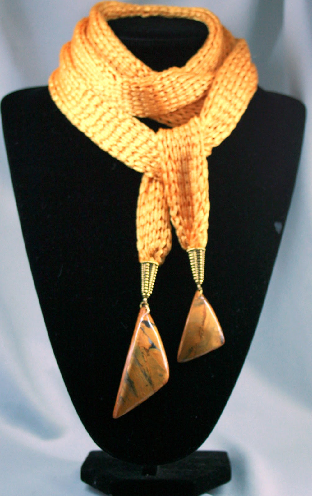 Scarf - knitting,   polymer clay