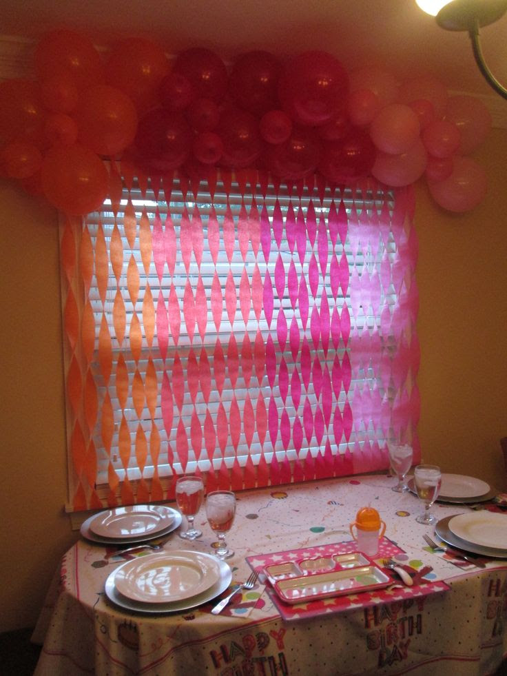 Balloon Streamer Decoration Ideas Birthday Decorations With