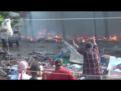 مجزرة رابعة التي ارتكبها السيسي الإرهابي