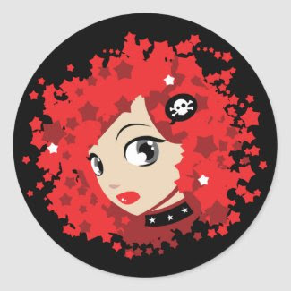Ruby Round Sticker