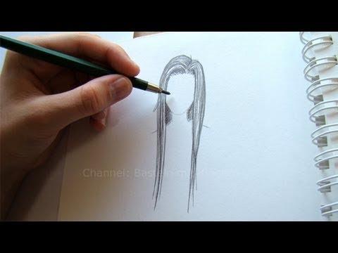 Zeichnen lernen: Haare zeichnen - YouTube