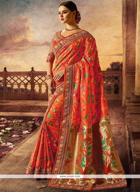 Buy Banarasi Silk Traditional Designer Saree   Wedding Sarees