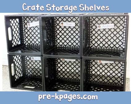 how to make crate cubbies for the classroom